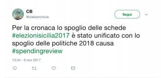 Foto dei tweet sulle regionali in Sicilia