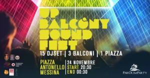 up balcony sound fest - serata a piazza antonello organizzata per sostenere la raccolta fondi per il parolimparty