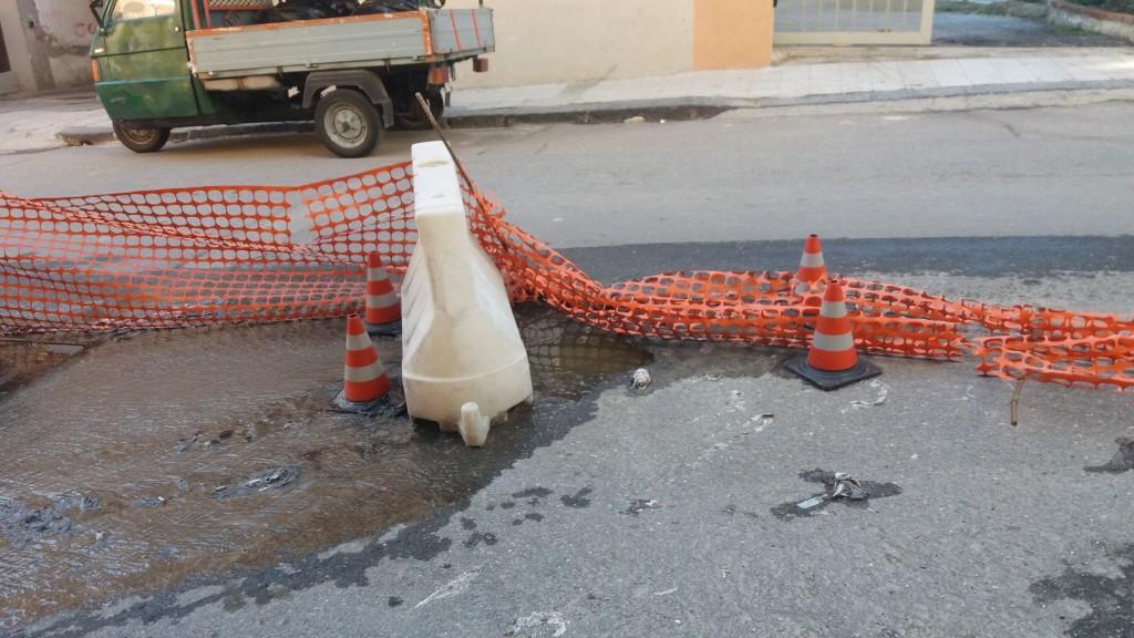Foto della fogna in Via Palermo