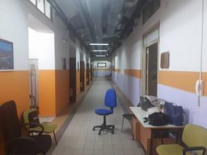 corridoio della scuola pascoli-crispi dopo i lavori a seguito dell'incendio del 4 dicembre