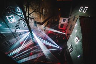 AreaOdeon LaserSymphony installazione artistica al Palazzo dei Leoni di Messina