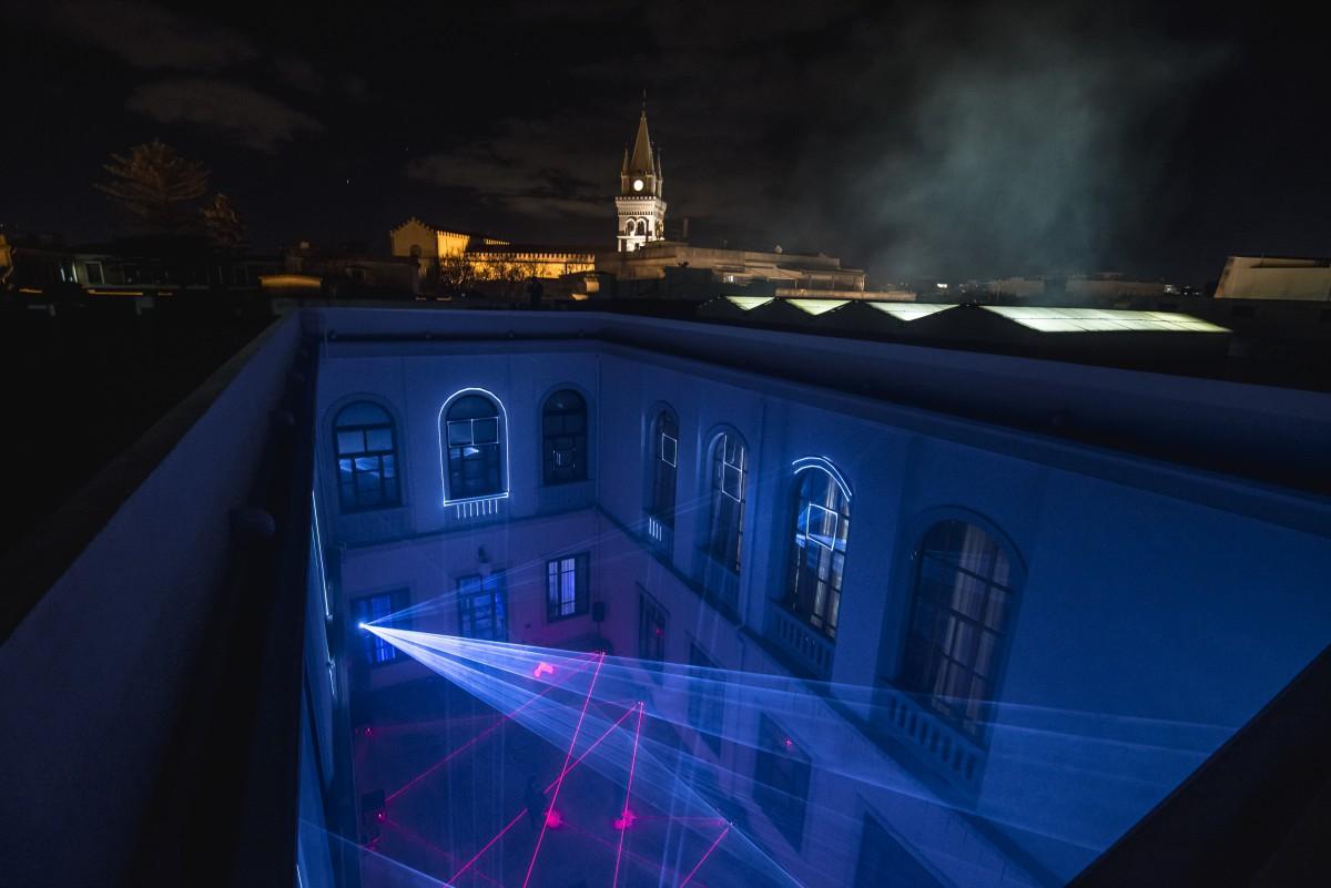 Foto 01 Laser Symphony Messina - Vista campanile del duomo