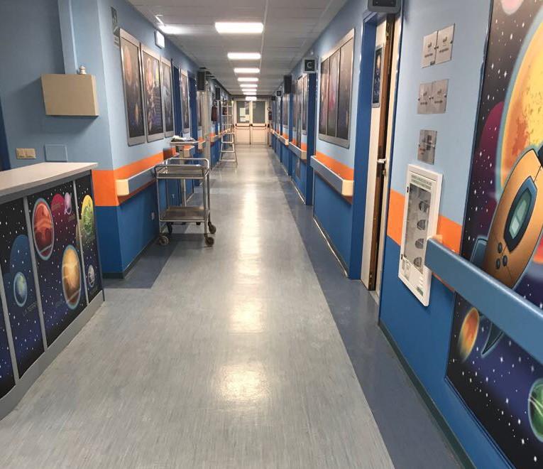 Il nuovo reparto di pediatria
