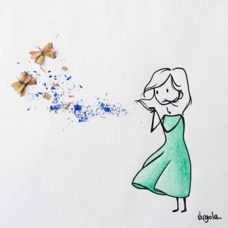 Foto di una vignetta di Virgola