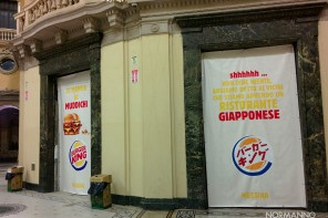 Burger King a Messina: allestimenti pronti in Galleria Vittorio Emanuele