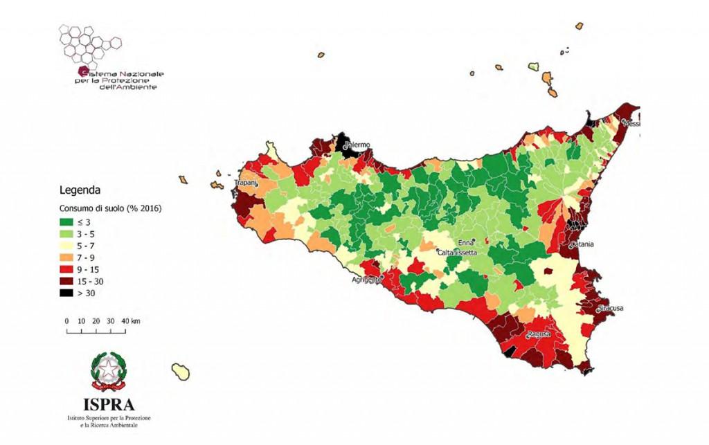 consumo di suolo comuni 2017 - dati ISPRA