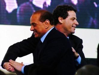 Foto di Silvio Berlusconi e Gianfranco Miccichè, neo presidente ARS
