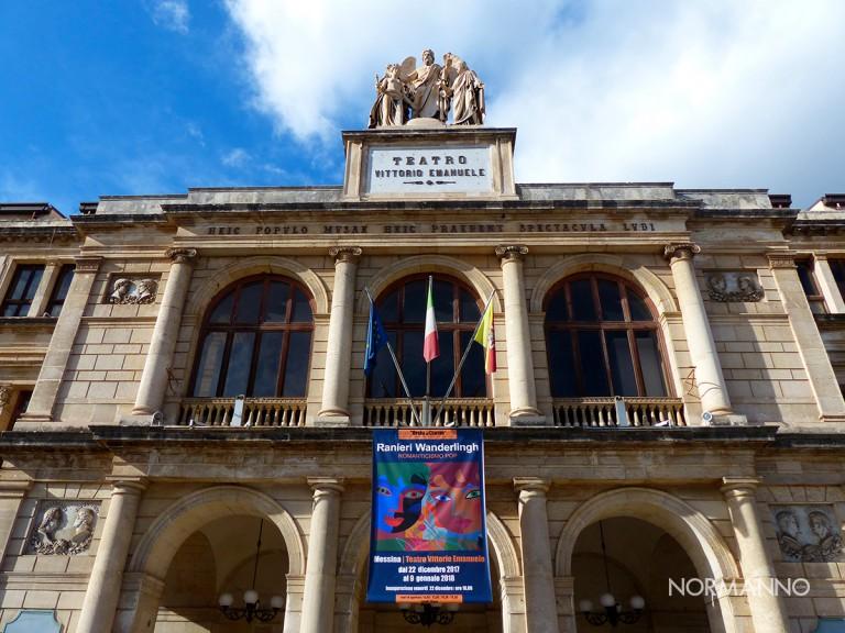 foto dell'esterno del teatro vittorio emanuele - messina