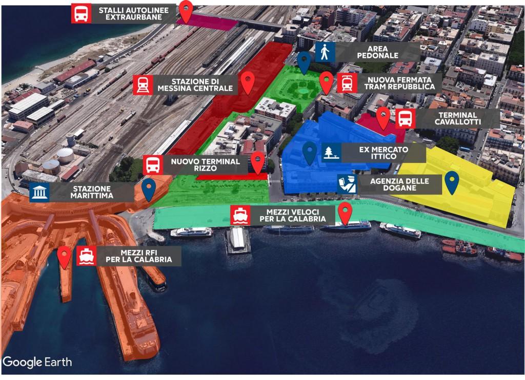 Progetto nuova stazione centrale di Messina - Hub intermodale