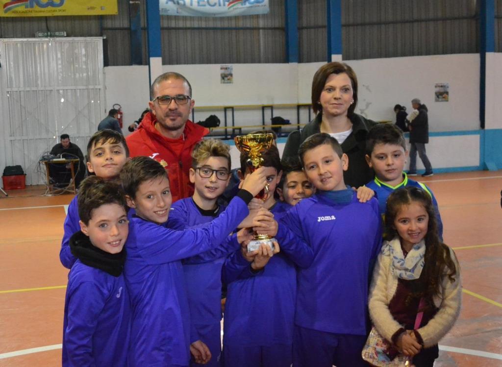 foto squadra calcio giovanile premiazione