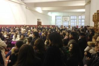 Foto dell'assemblea di istituto al Seguenza