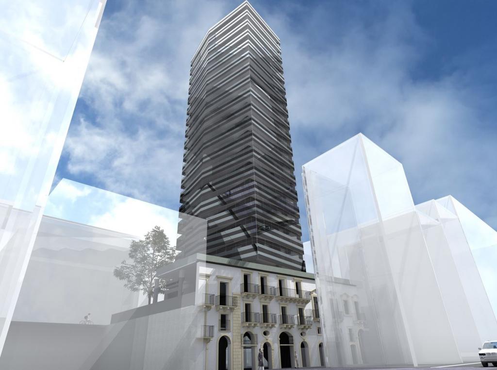 Foto del Progetto del nuovo palazzo in Via Cesare Battisti