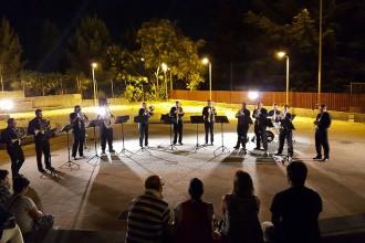 Foto di un concerto della Vulcanica Brass Ensamble . Il gruppo di ottoni si esibirà alla chiesa di san nicola di ganzirri per il concerto di Natale
