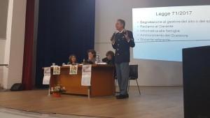 foto del convegno sul cyberbullismo organizzato dalla polizia di stato con il liceo manzoni di mistretta - messina