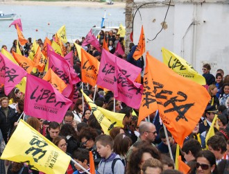 immagine manifestazione di libera contro le mafie in sicilia