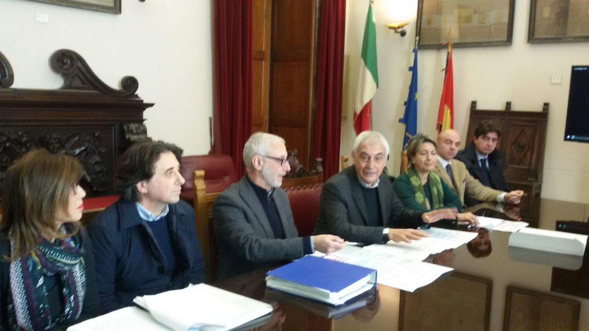 foto conferenza stampa Palazzo Zanca