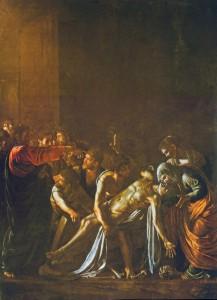 immagine del dipinto caravaggio la resurrezione di lazzaro