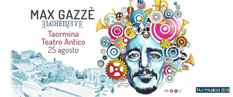 Banner del concerto con orchestra sinfonica di Max Gazzè a Taormina - Taomusica 2018