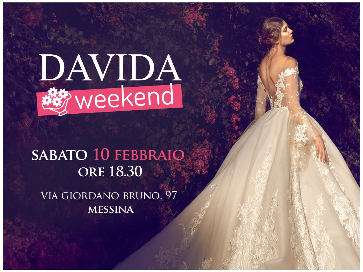 "Locandina evento ""Davida Weekend"", organizzato da Le spose di Davida"