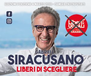 Gabriele Siracusano Liberi e Uguali elezioni politiche 4 marzo 2018