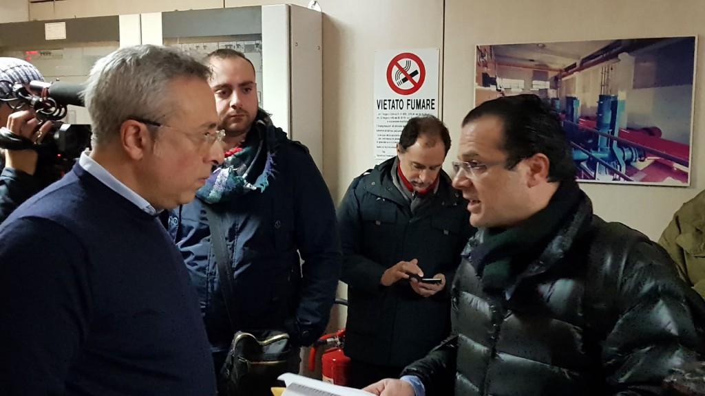 Foto dell'incontro fra Leonardo Termini, presidente di AMAM, e Cateno De Luca