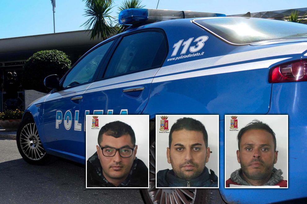 Foto segnaletiche polizia messina - Bougatef Houssem, Rouis Amine, Douris Souflenne