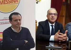 Foto del confronto fra il direttore di AMAM e il candidato sindaco Cateno De Luca