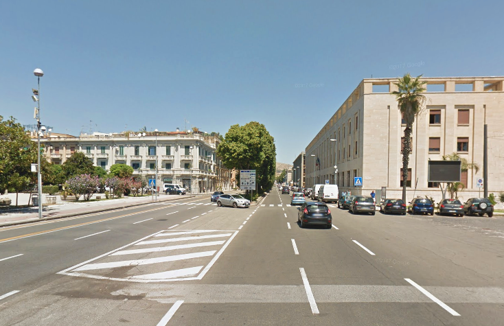 Foto incrocio via Garibaldi con Largo Minutoli, Messina