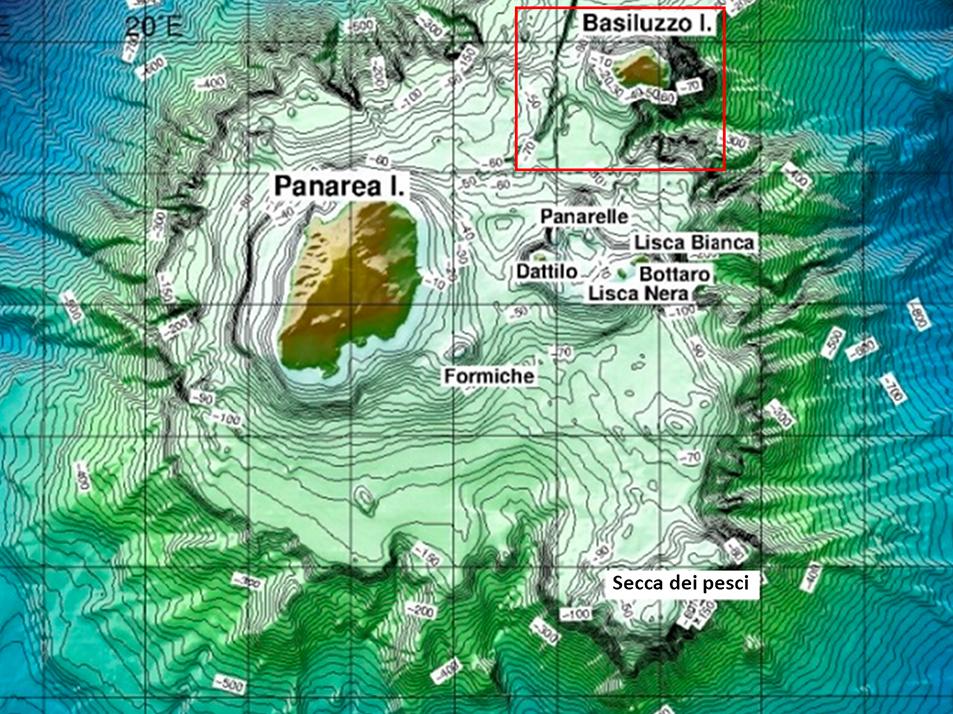foto degli studi sulla smoking land, i camini vulcanici dell'isola di panarea - isole eolie - messina