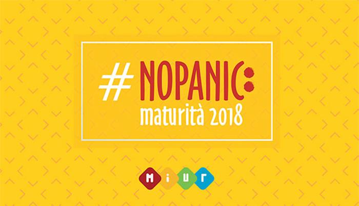 immagine della campagna #nopanic lanciata dal miur per gli esami di maturità 2018