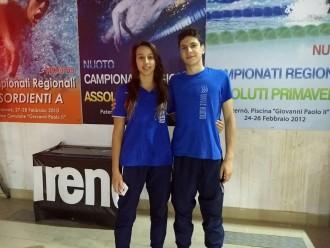 giulia fontana e manuel dibilio della squadra di nuoto Ulysse di Messina