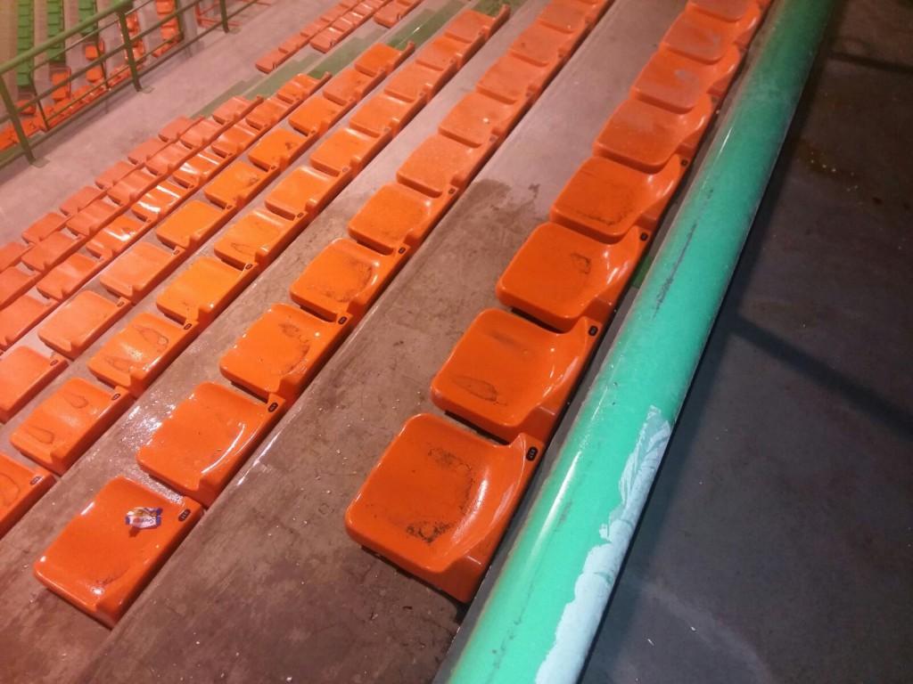 il palarescifina, impianto sportivo di Messina, allagato