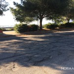 foto della strada dissestata della via nuova panoramica dello stretto – Messina