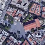 vista dall'alto di piazza duomo per il progetto di una nuova illuminazione dell'area - messina