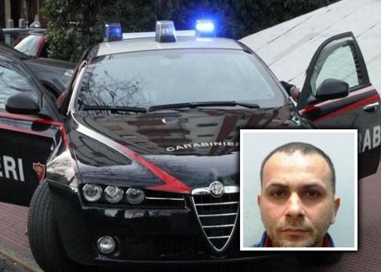 Foto apertura - Arresto carabinieri di Catania di Salvatore Salamanca, evaso da comunità di Faro