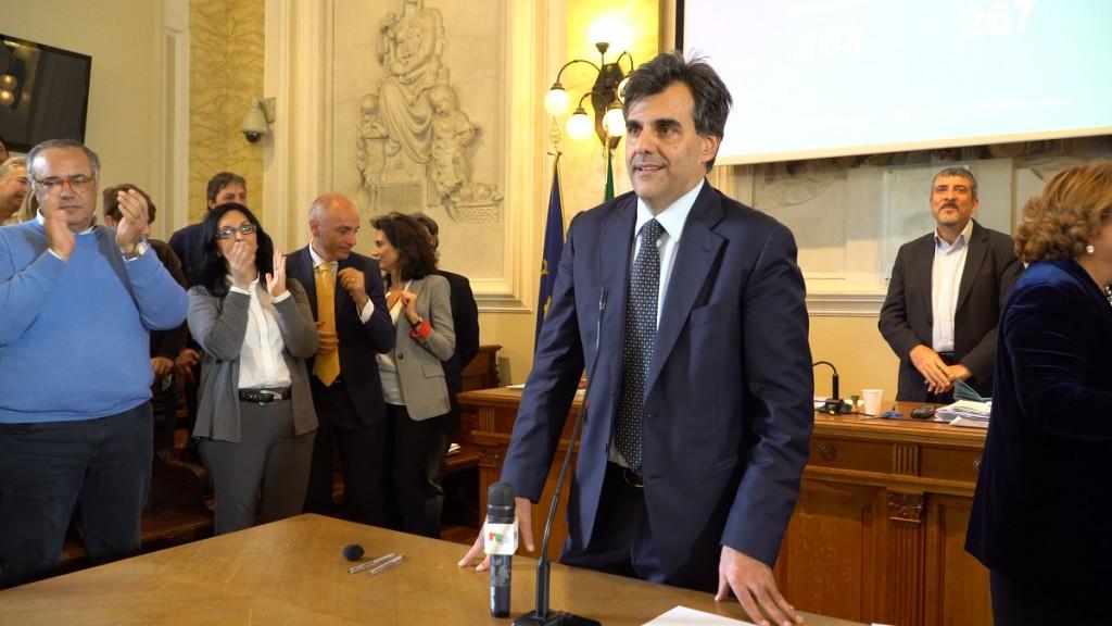 Foto del primo discorso di Salvatore Cuzzocrea come Rettore di Unime