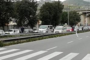 Messina. Palo della luce si abbatte sul Viale Europa, traffico in tilt