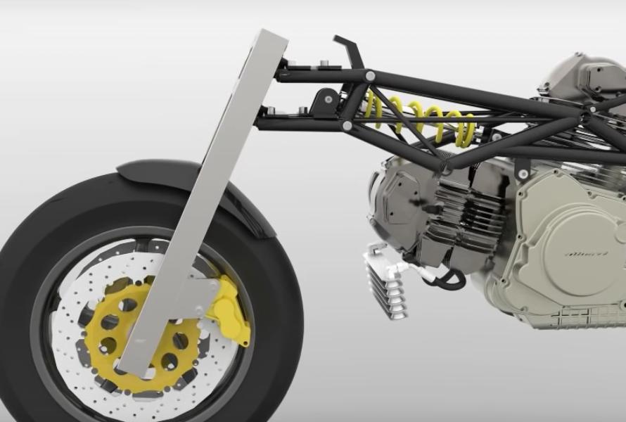 Progetto 3D della moto Valchiria