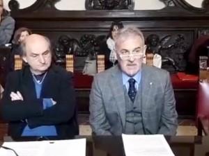 aldo iacomelli direttore generale messinaservizi - conferenza stampa di presentazione insieme all'assessore all'ambiente daniele ialacqua