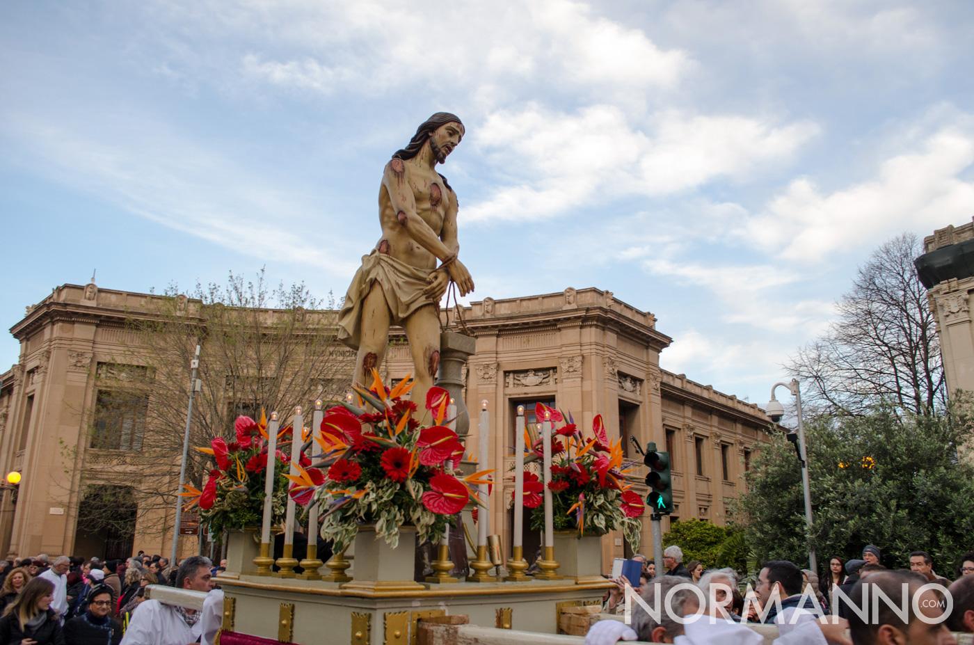 Cristo alla colonna - Processione delle Barette 2018, Messina