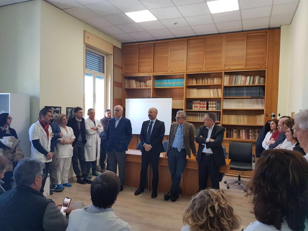Foto dell'incontro con il personale dell'ospedale Piemonte - Autosospensione Dino Bramanti