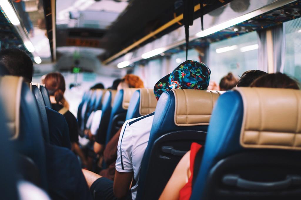 interno di un bus - pullman
