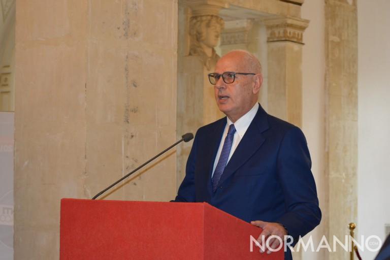 Primo piano di Dino Bramanti - Conferenza stampa ufficializzazione candidatura elezioni amministrative Messina
