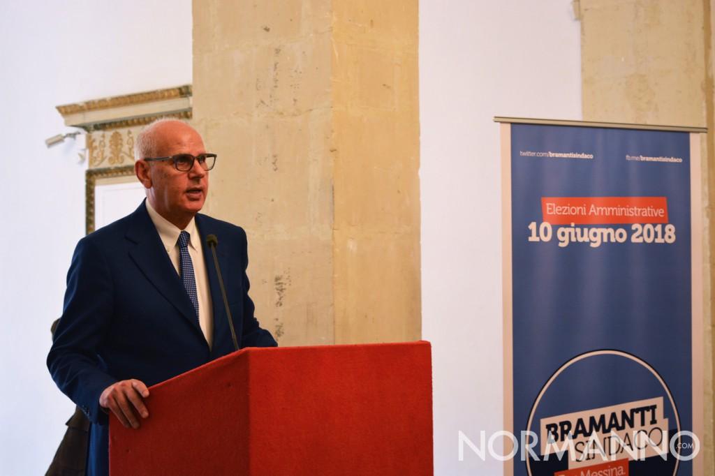 Foto della conferenza stampa di Dino Bramanti - Candidato sindaco di Messina