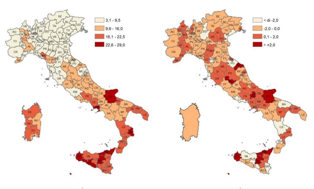 Istat dati sulla disoccupazione in Italia 2017 confrontati con le rilevazioni del 2016