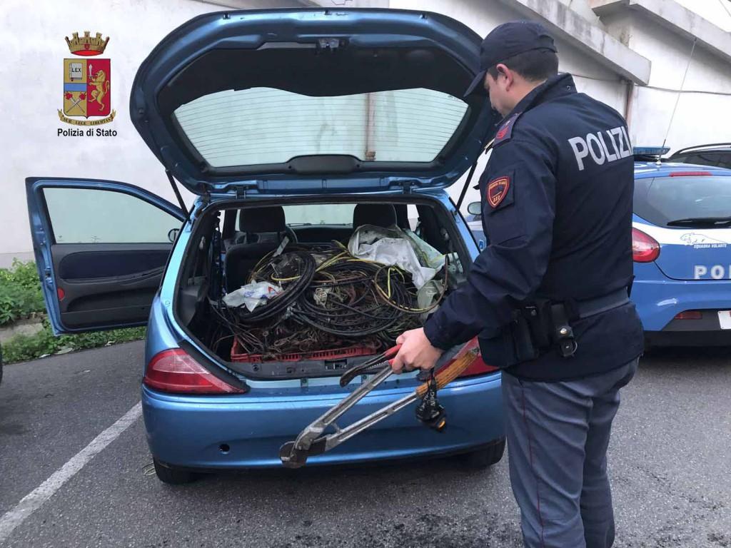ladro di rame - colpevole di furti in centro a messina