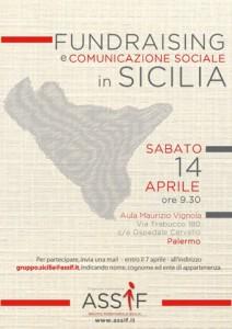 locandina assif (associazione fundraiser italiani) - incontro a palermo