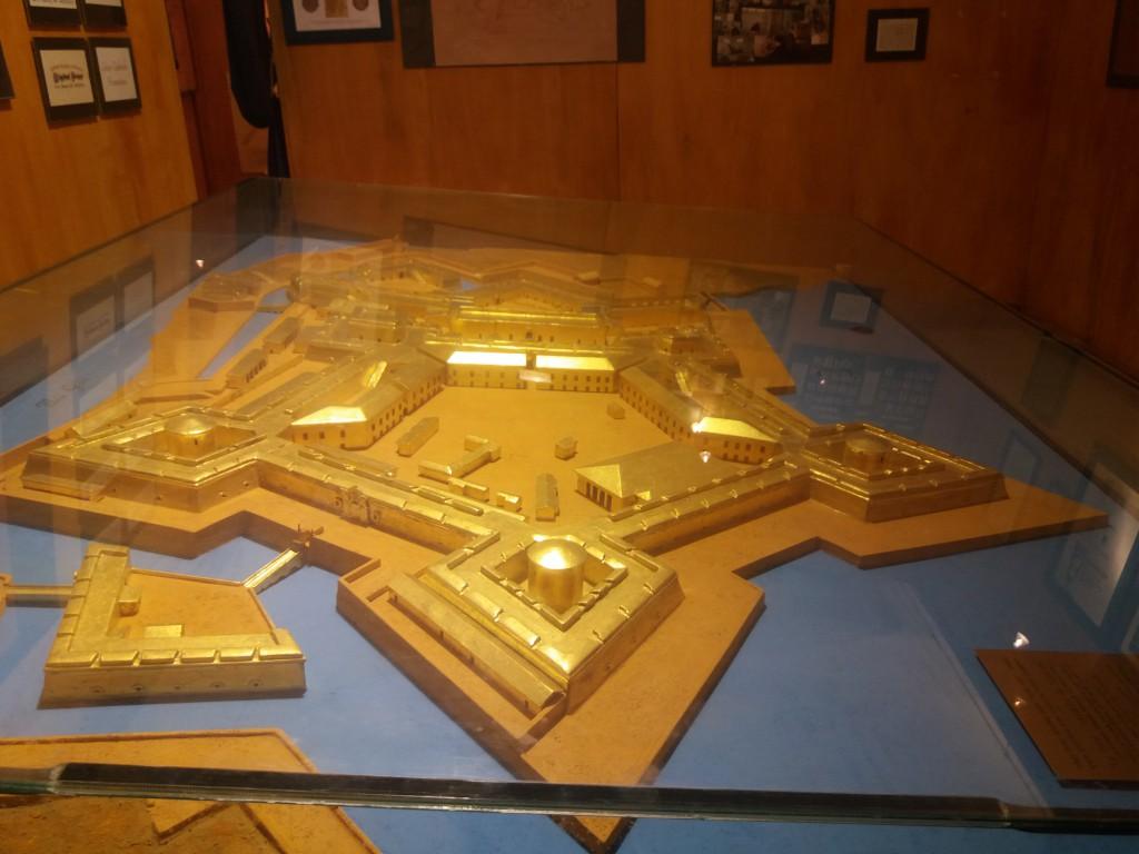 modello della real cittadella contenuto nel museo situato all'interno dell'istituto verona trento