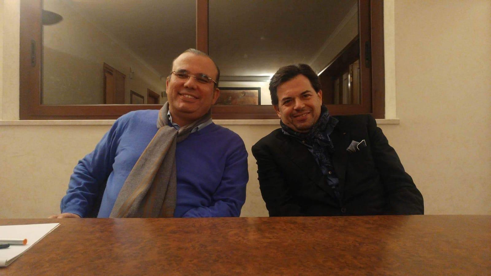 Foto di Beppe Picciolo e Fabio D'Amore, nota diffusa dopo le politiche 2018