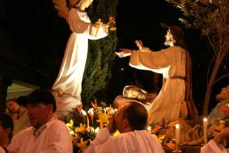 Foto di una delle Barette in processione a Messina per Pasqua